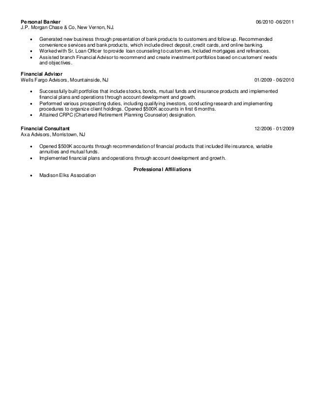 wells fargo financial advisor sample resume wells fargo financial