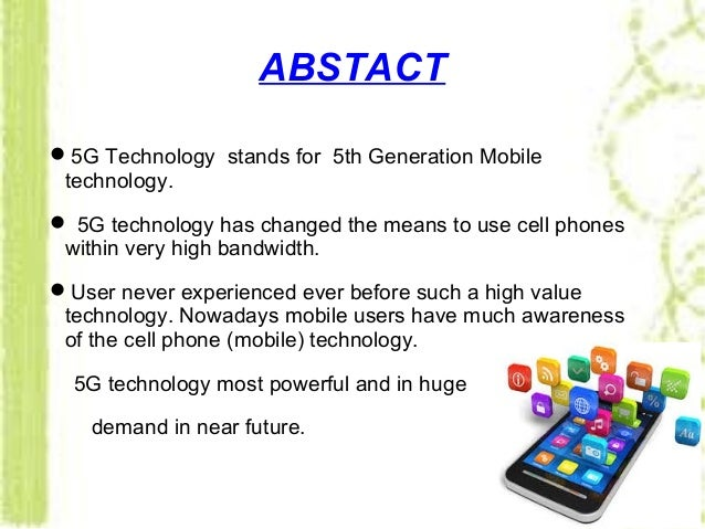 Mobile Technology: 5G MOBILE TECHNOLOGY PPT