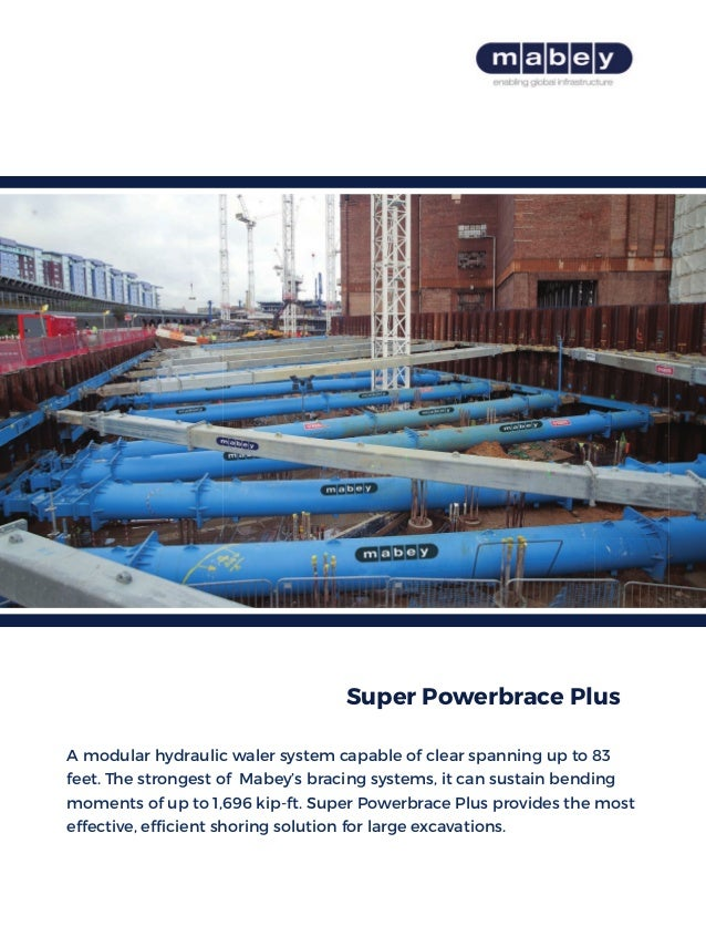 A modular hydraulic waler system capable of clear spanning up to 83 feet. The strongest of Mabey's bracing systems, it can...