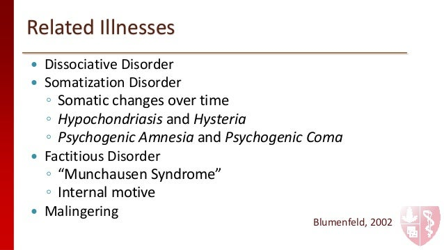 Define the major dsm iv tr categories of anxiety somatoform and dissociative disorders