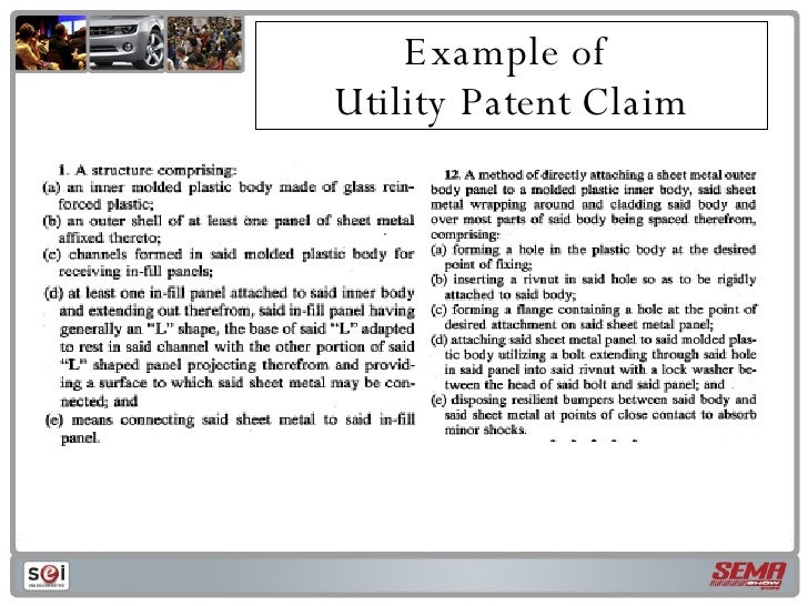Patents and trade secrets for Utility patent application template