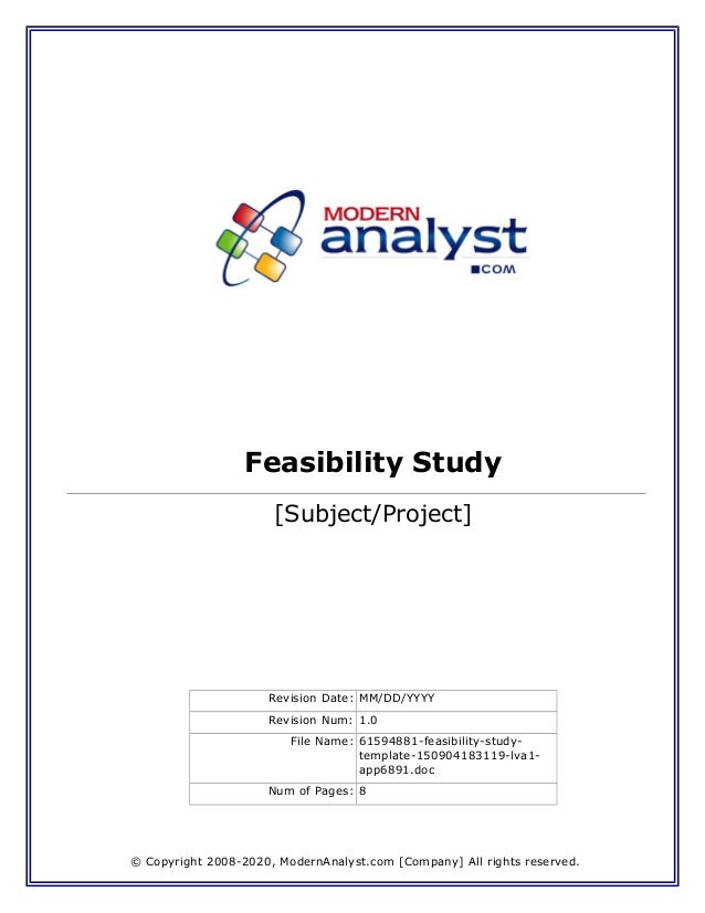 Learn How to Present a Completed Feasibility Study