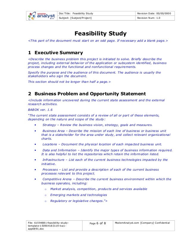 How to Write a Good Feasibility Report with Format