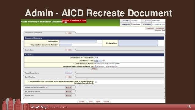 18 Admin - AICD Recreate Document