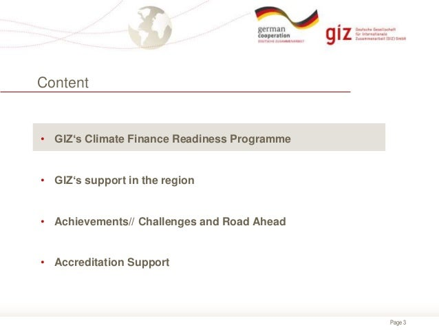 Lessons Learned from GIZ's Climate Finance Readiness Programme
