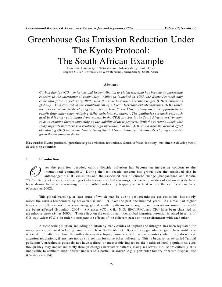 International Business & Economics Research Journal – January 2008                                Volume 7, Number 1 Green...