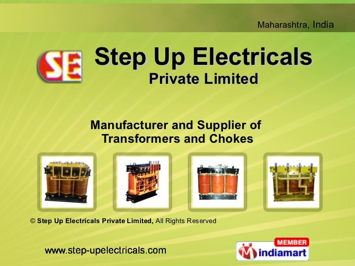 Step Up Electricals Private Limited Manufacturer and Supplier of  Transformers and Chokes ©  Step Up Electricals Private L...