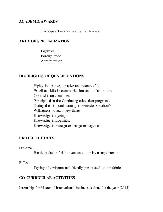 awesome other area of specialization in resume ideas simple