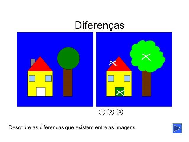 Diferenças                                     1   2   3Descobre as diferenças que existem entre as imagens.