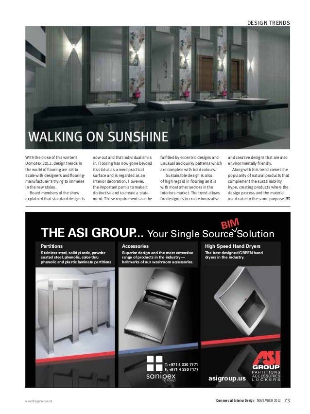 ... Interiors And Industrial Design Professionals; 75.