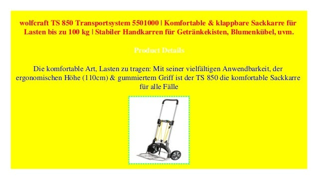 Beliebt wolfcraft TS 850 Transportsystem 5501000 | Komfortable & klappbare S… AI61
