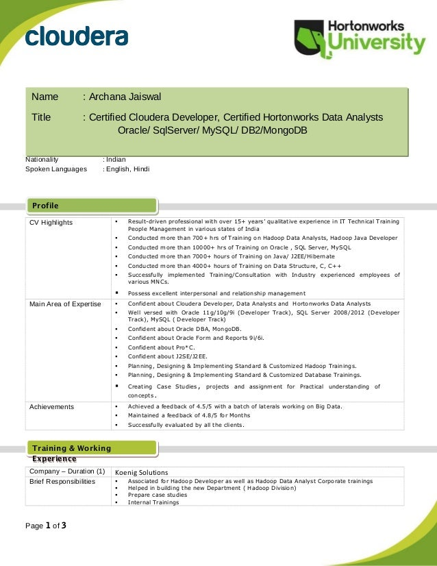 archana jaiswal resume