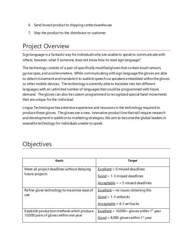 Project Plan  Slide 3