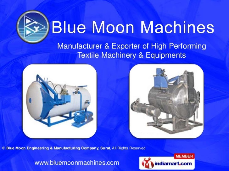 Manufacturer & Exporter of High Performing Textile Machinery & Equipments <br />