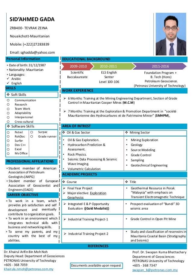 1. Sid\'s resume