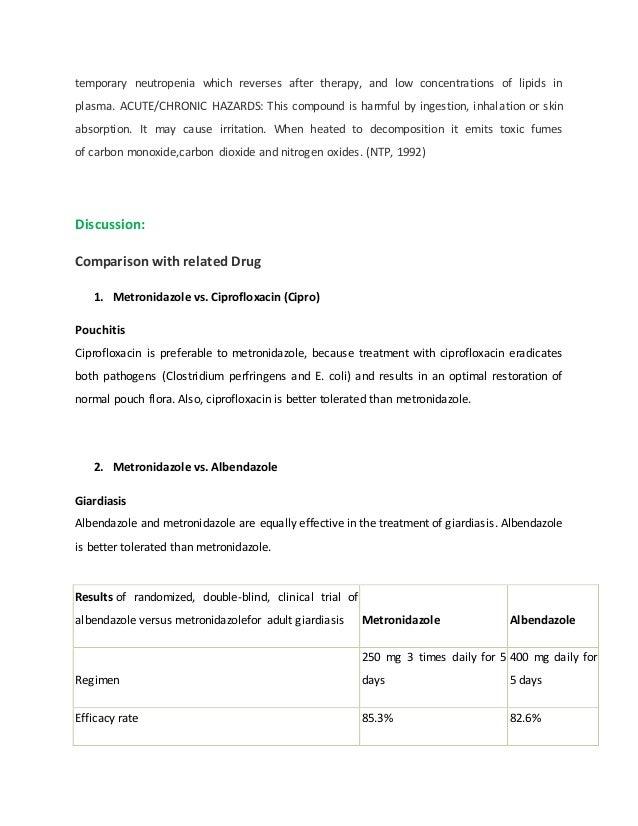 Ciprofloxacin indikasi metronidazole