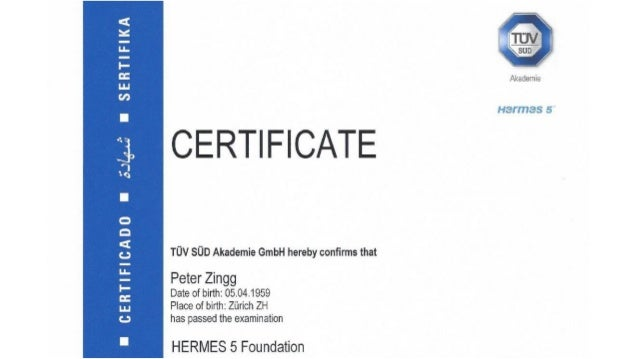 Hermes5CertifacteTitle