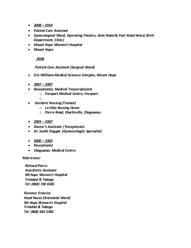 Rishma Final Resume 2014 Trinidad