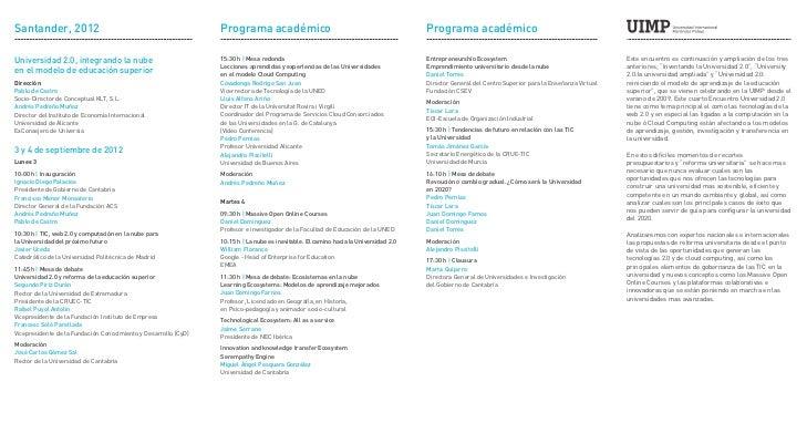 Santander, 2012                                                  Programa académico                                       ...