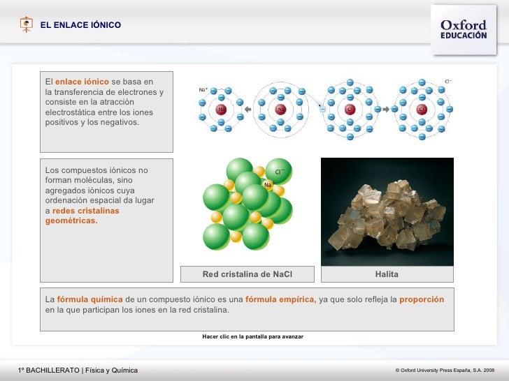 EL ENLACE I ÓNICO El   enlace iónico   se basa en  la transferencia de electrones y  consiste en la atracción  electrostát...