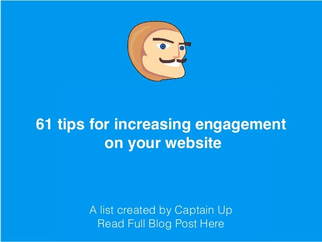7 Tips From Top Gamification Experts On How To Boost User Engagement A list created by Captain Up Read Full Blog Post Here ...
