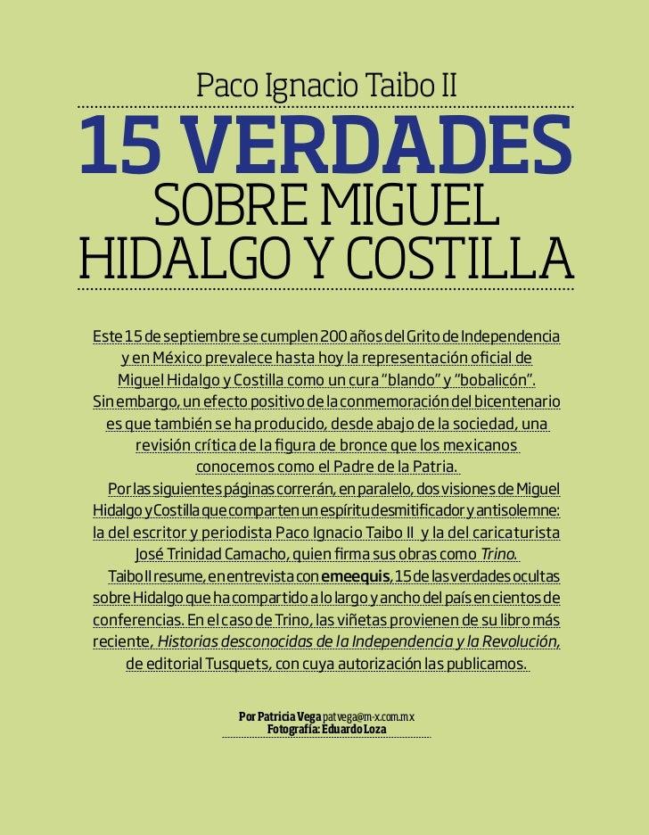 Paco Ignacio Taibo II                                   15 verdades                                      sobre MIguel     ...