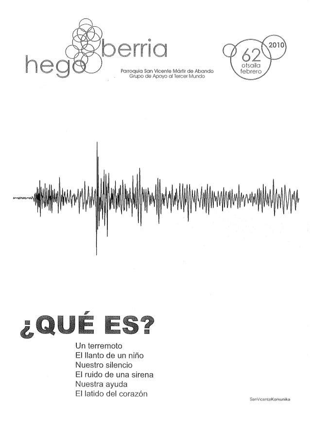 Parroquia San Vicente lVlartir de Abando Grupo de Apoyo al Tercer Mundo     Un terremoto  El llanto de un niño Nuestro sil...