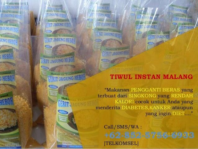 Nasi Tiwul Instan Wonosari Gunung Kidul