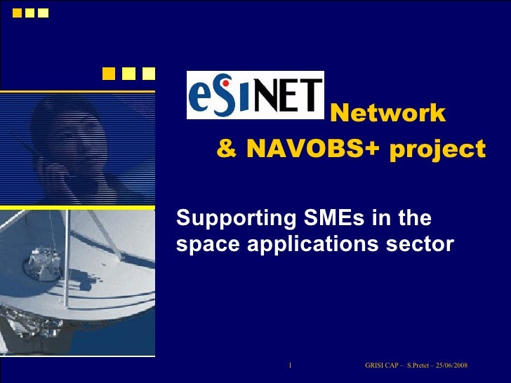 Network Supporting SMEs in the space applications sector & NAVOBS+ project