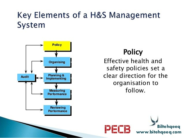 Pecb Webinar The Concepts And Components Of A Health And Safety Mana