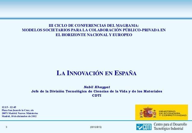 III CICLO DE CONFERENCIAS DEL MAGRAMA:                 MODELOS SOCIETARIOS PARA LA COLABORACIÓN PÚBLICO-PRIVADA EN        ...