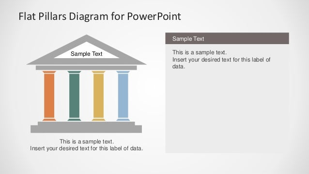 flat pillars diagram for powerpoint. Black Bedroom Furniture Sets. Home Design Ideas
