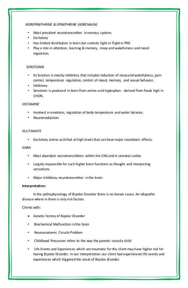 bipolar case study essay Bipolar disorder essays: diagnostic case study had been previously diagnosed • bipolar disorder • bipolar ii disorder • intermittent explosive disorder.