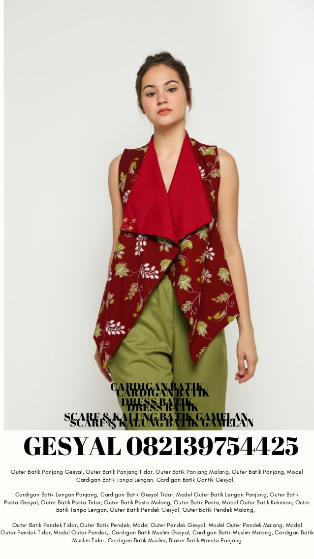 6282139754425 Tunik Batik Cantik Tunik Batik Kerja Gesyal Tunik