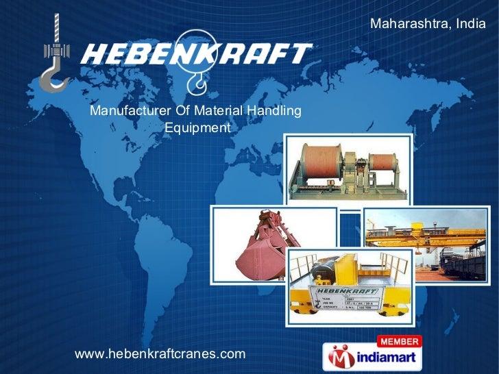 Maharashtra, India  Manufacturer Of Material Handling  Equipment