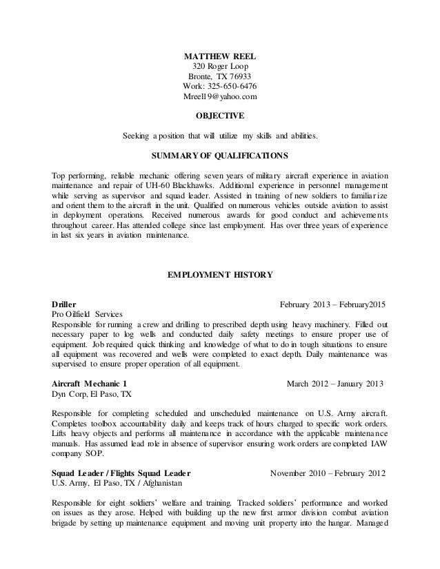 Reel Resume