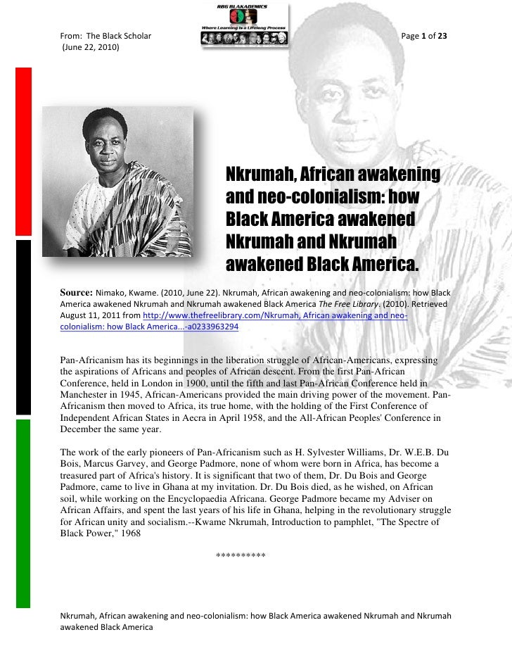 From: The Black Scholar                                                                 Page 1 of 23(June 22, 2010)       ...