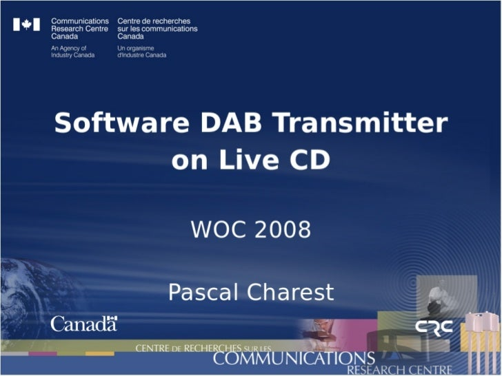 Software DAB Transmitter on Live CD