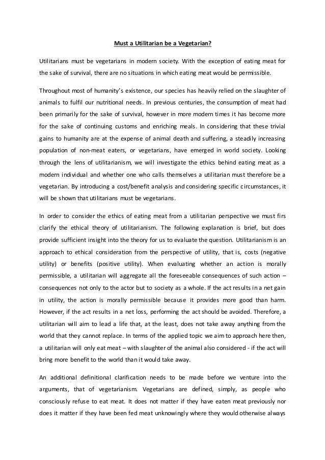 eating meat essay