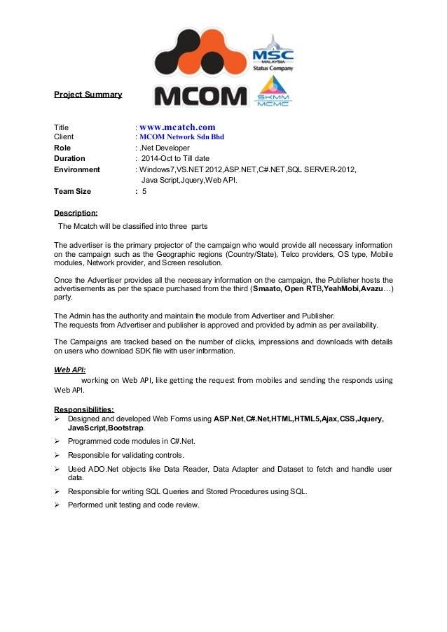 4  yrs exp  net resume