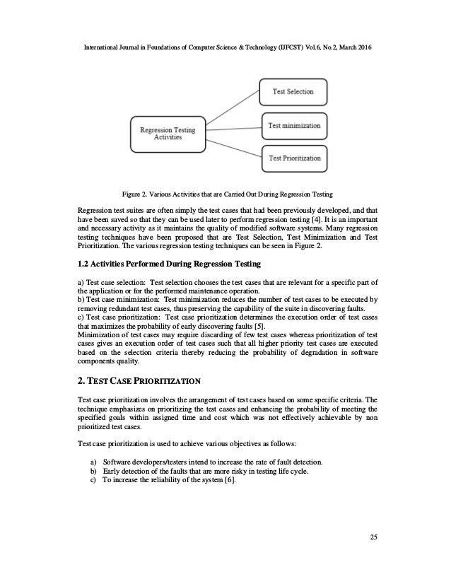 TEST CASE PRIORITIZATION FOR OPTIMIZING A REGRESSION TEST Slide 3