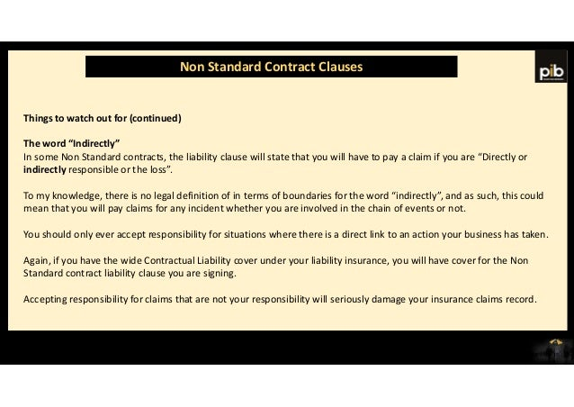 Standard Terms Of Business And Non Standard Terms - Non responsibility clause