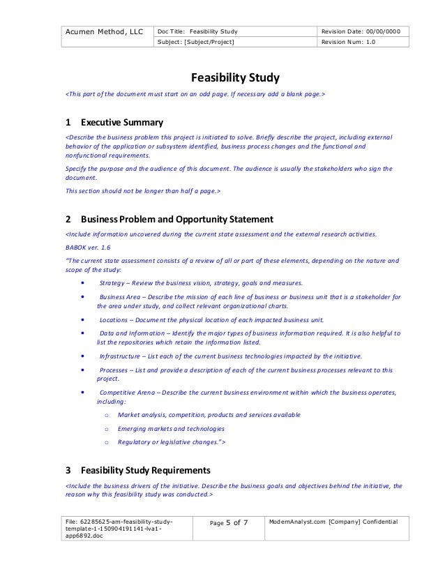 62285625 am-feasibility-study-template-1