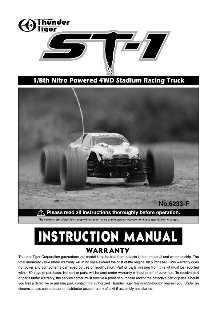 Manuale ST-1 Stadium Truck 4WD 1:8 RTR