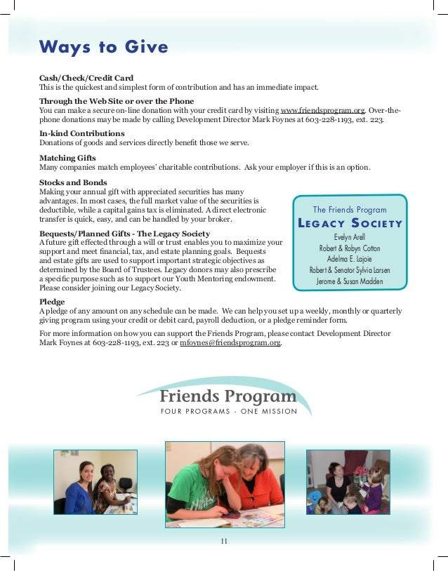Friends Annual Report 2013