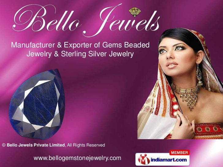 Manufacturer & Exporter of Gems Beaded <br />Jewelry & Sterling Silver Jewelry <br />
