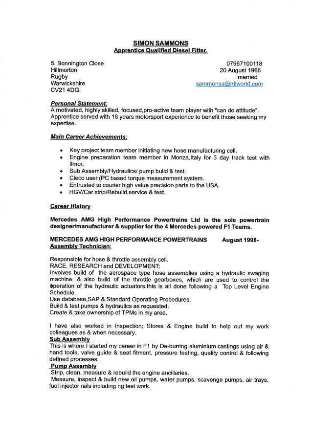 best CV SIMON SAMMONS 1