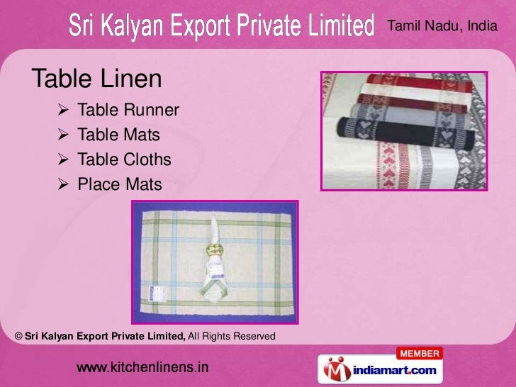 Home Furnishing Items By Sri Kalyan Export Private Limited