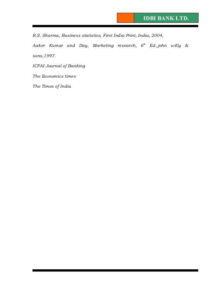 6248608 summer-training-project-report-on-idbi-bank