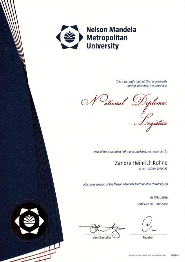 dip logistics certificate